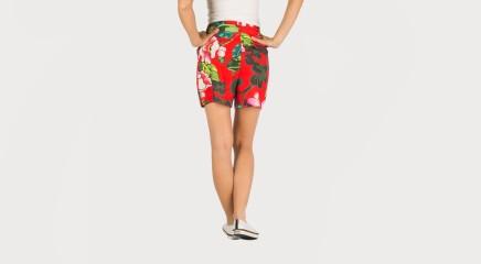 Desigual Lühikesed püksid Pant Flores
