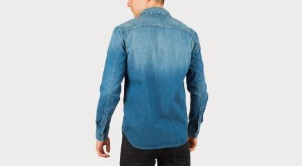 Calvin Klein Džinsinė palaidinė  One Pocket Shirt - Lapis Blue