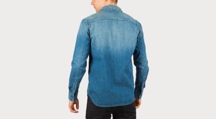 Calvin Klein Džinsu blūze One Pocket Shirt - Lapis Blue