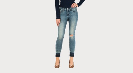 Calvin Klein Teksapüksid Mid Rise Skinny Rebel - Oxygen Blue