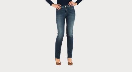Calvin Klein Teksapüksid Mid Rise Straight - Rough Blue