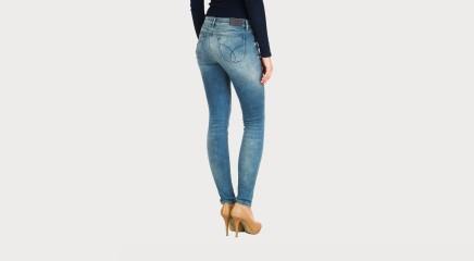 Calvin Klein Teksapüksid Mid Rise Skinny - Deep Sky