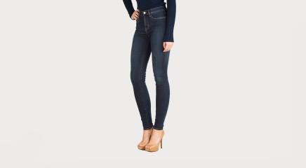 Calvin Klein Teksapüksid High Rise Skinny - Silk Dark