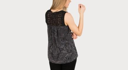Desigual Pluus Black Lace