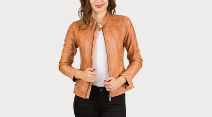 Pepe Jeans Leather jacket Zoe