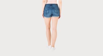 Calvin Klein Lühikesed püksid Cut Off Short - Blue