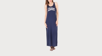 Tommy Hilfiger Maksikleit Kiara Maxi Logo Dress