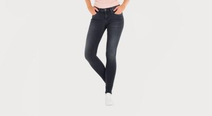 Calvin Klein Teksapüksid Mid Rise Skinny - Pitch Black