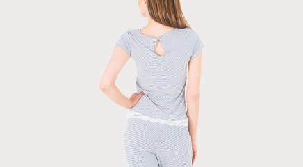 Tommy Hilfiger Блузка пижамы Tee Stripe