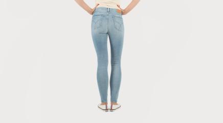 Calvin Klein Teksapüksid HR Skinny - Crackle Blue Stretch