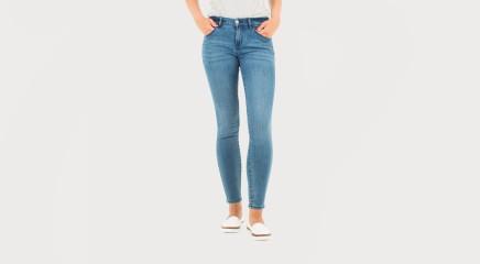 Calvin Klein Teksapüksid MR Skinny - Salted Blue