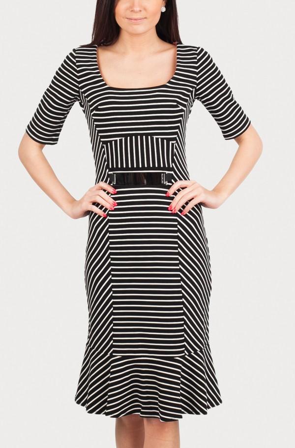 GREENWICH STRETCH VISCOSE DRESS