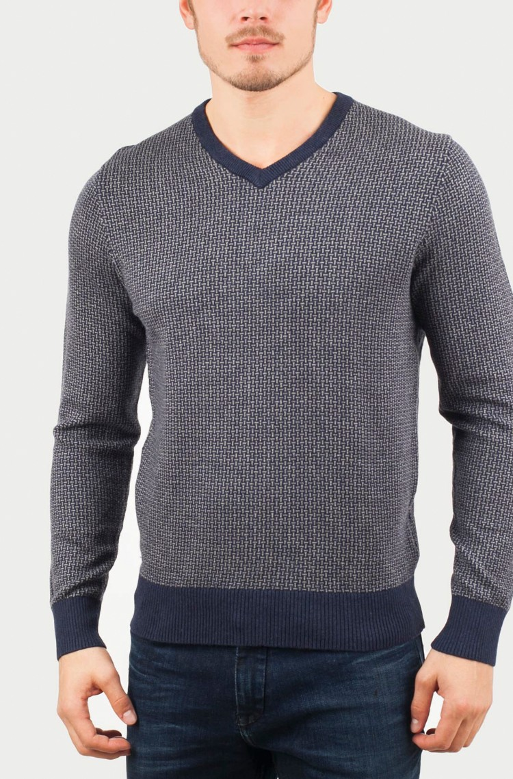Dark blue Sweater Jacquard Pima Tommy Hilfiger fd92325431d