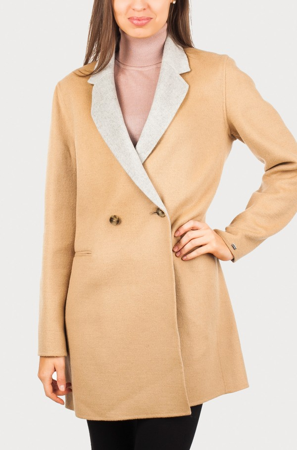 RHONDA DB D/F WOOL COAT