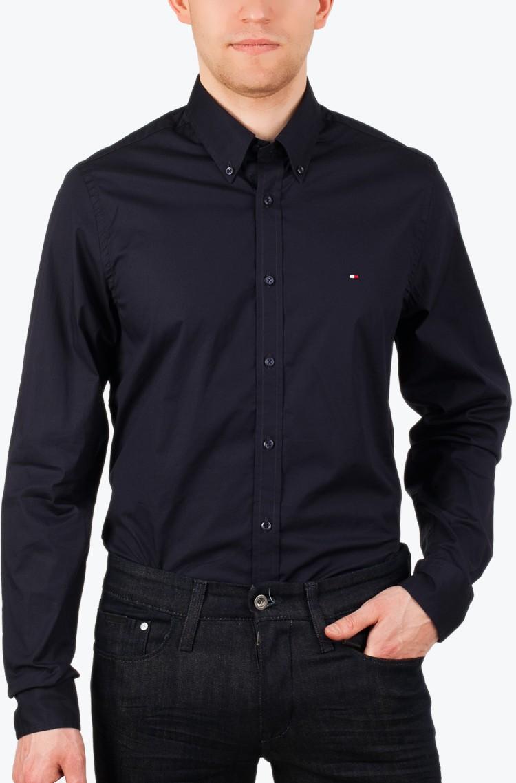 b8c08b94 Dark blue Shirt Stretch Poplin SF2 Tommy Hilfiger, Mens Long-sleeved ...