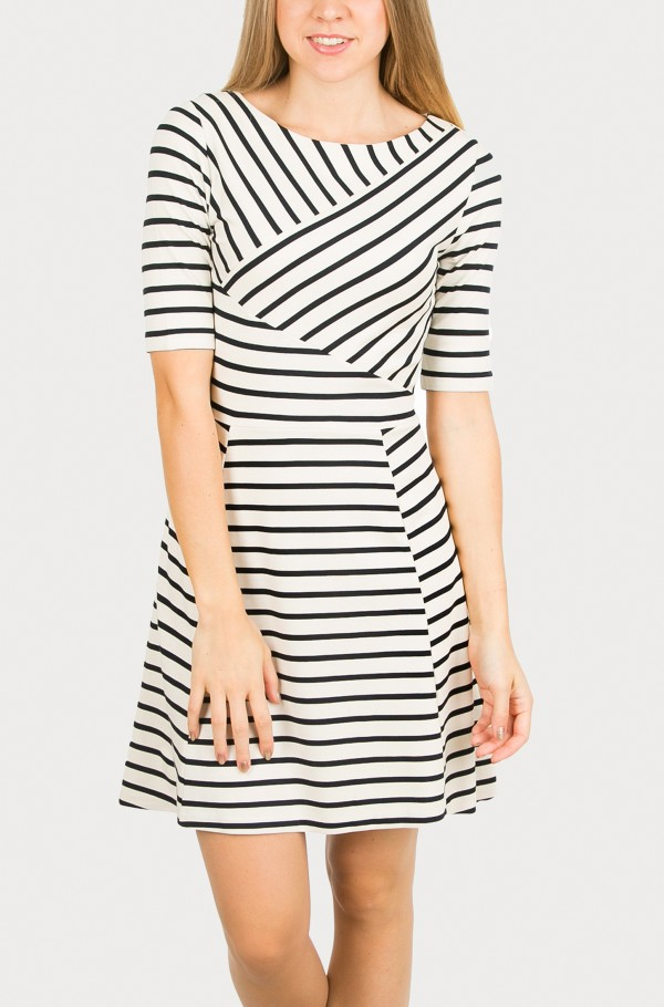 OLIVER BOAT-NK DRESS 1/2 SLV