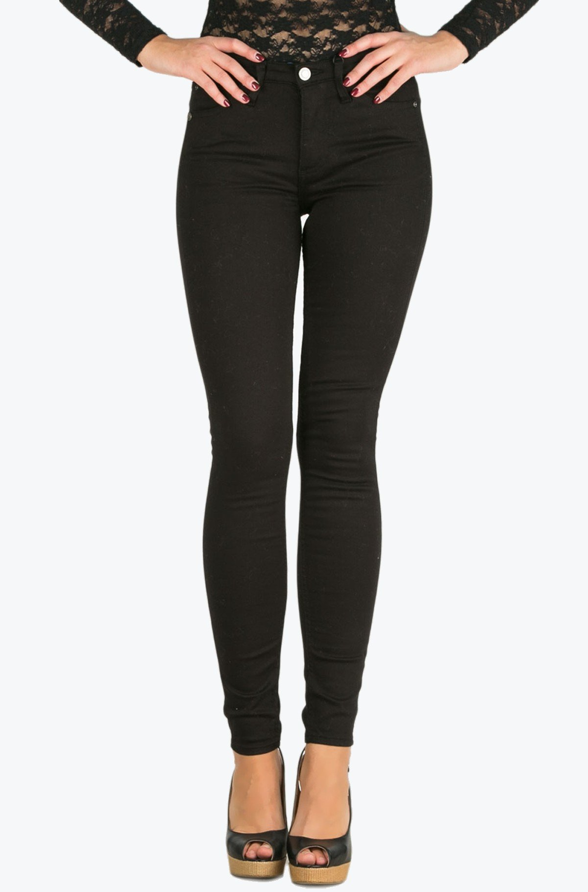 Džinsinės kelnės Sculpted Skinny - Infinite Black Str-full-1