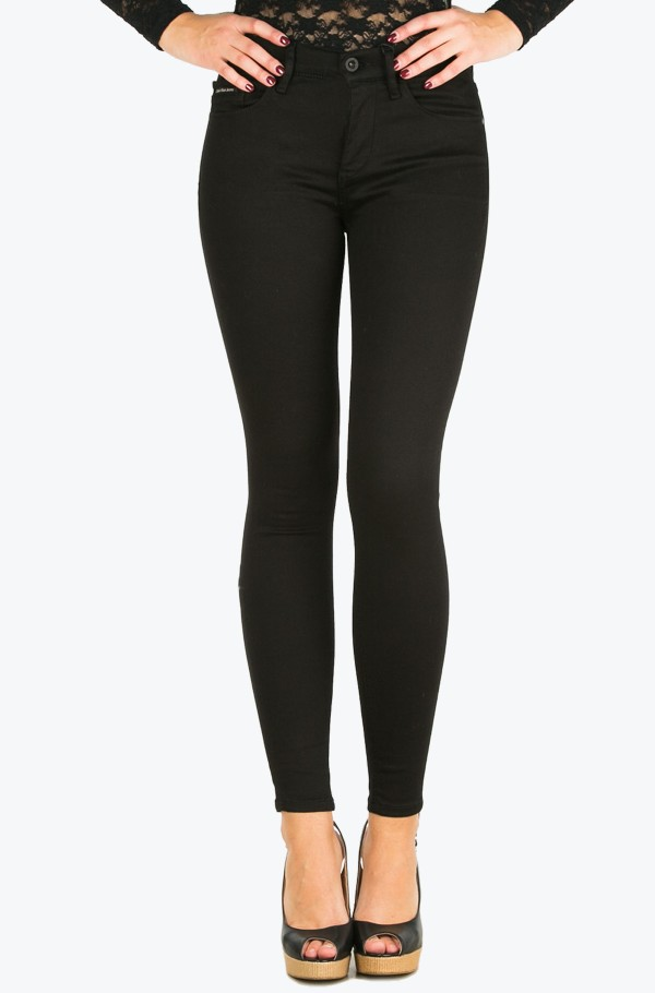 High Rise Skinny -Pop Black Stretch