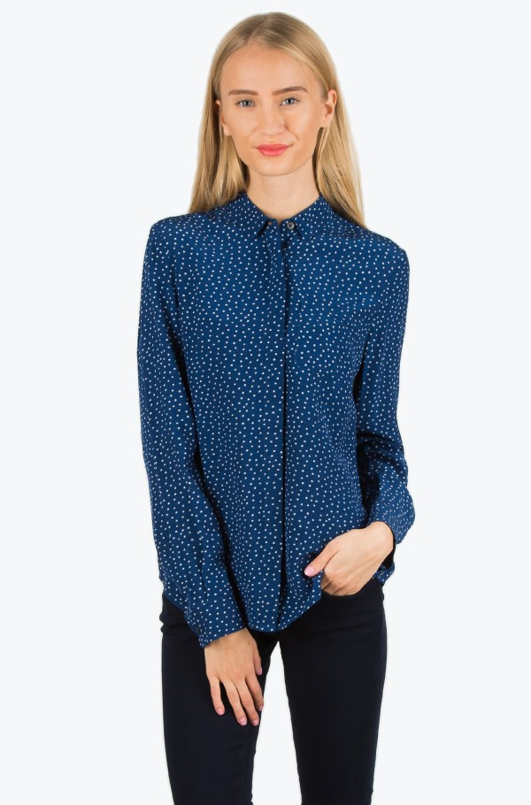 GAVIE PRT BLOUSE LS