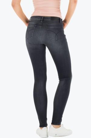 Džinsinės kelnės Mid Rise Skinny - Pitch Black-2
