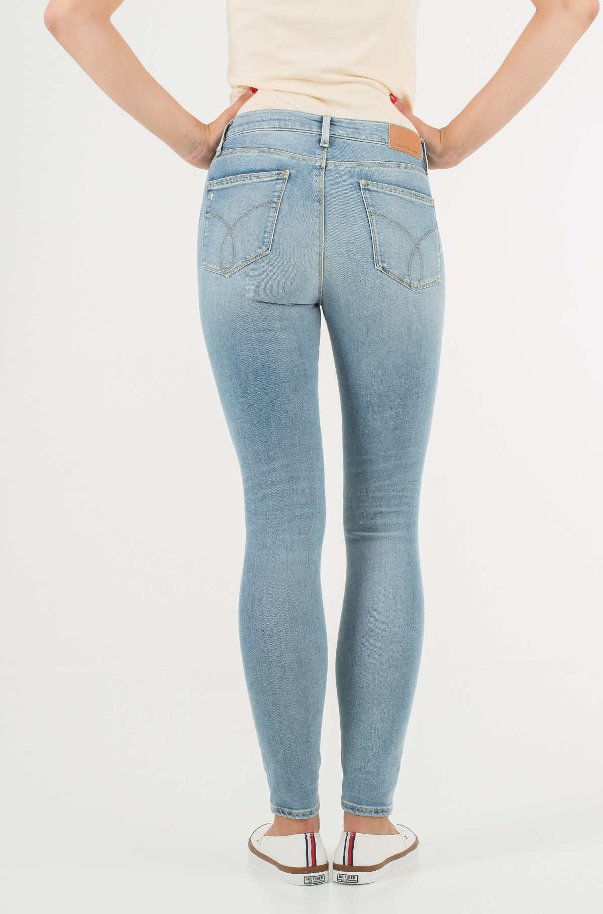 Džinsinės kelnės HR Skinny - Crackle Blue Stretch-full-2
