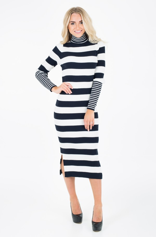 IVY RIB HIGH-NK DRESS