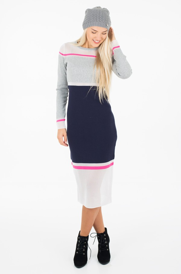 GELDA SHEER CONTRAST DRESS