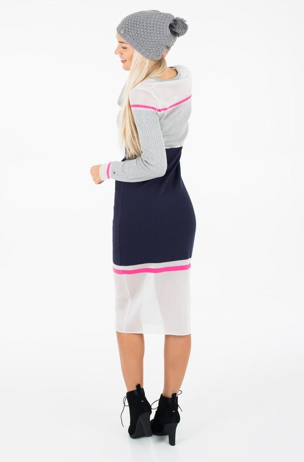 GELDA SHEER CONTRAST DRESS-hover