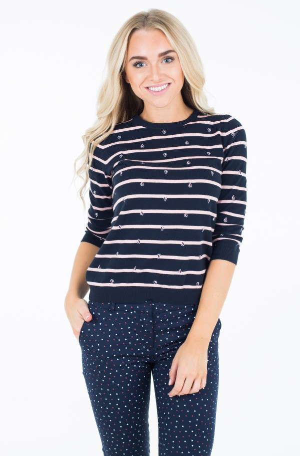 ALLY STP EMBROIDERY SWTR