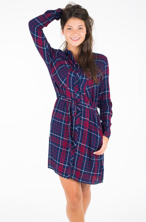 THDW CHECK SHIRT DRESS L/S 19
