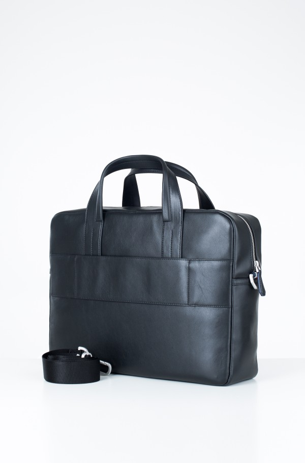SMOOTH LEATHER COMPUTER BAG-hover
