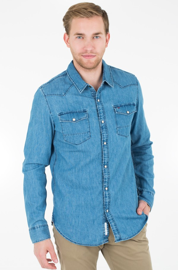 TJM BASIC REG DENIM SHIRT L/S 52