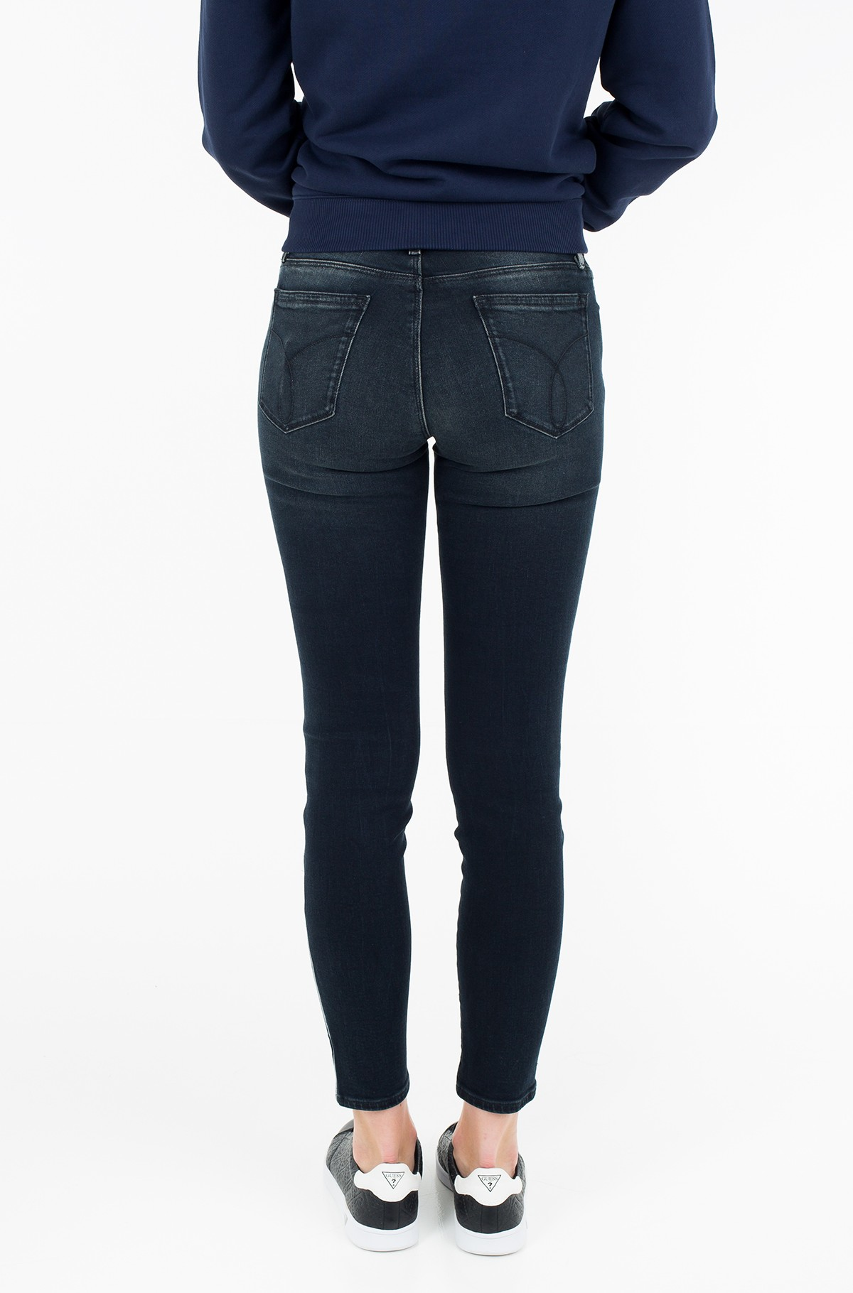 Džinsinės kelnės Mid Rise Skinny Ankle - Blackwater Embro-full-2
