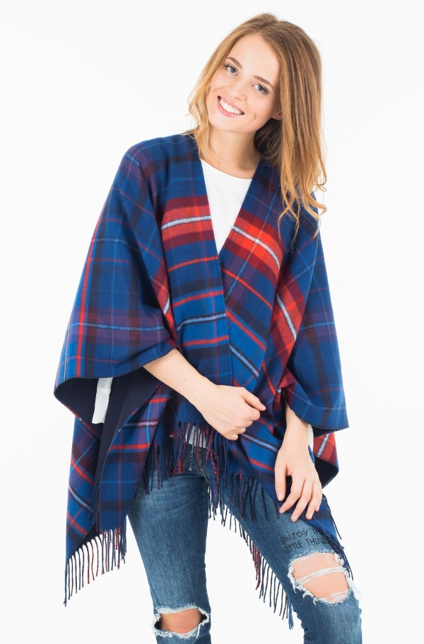 DOUBLE SIDED CHECK PONCHO