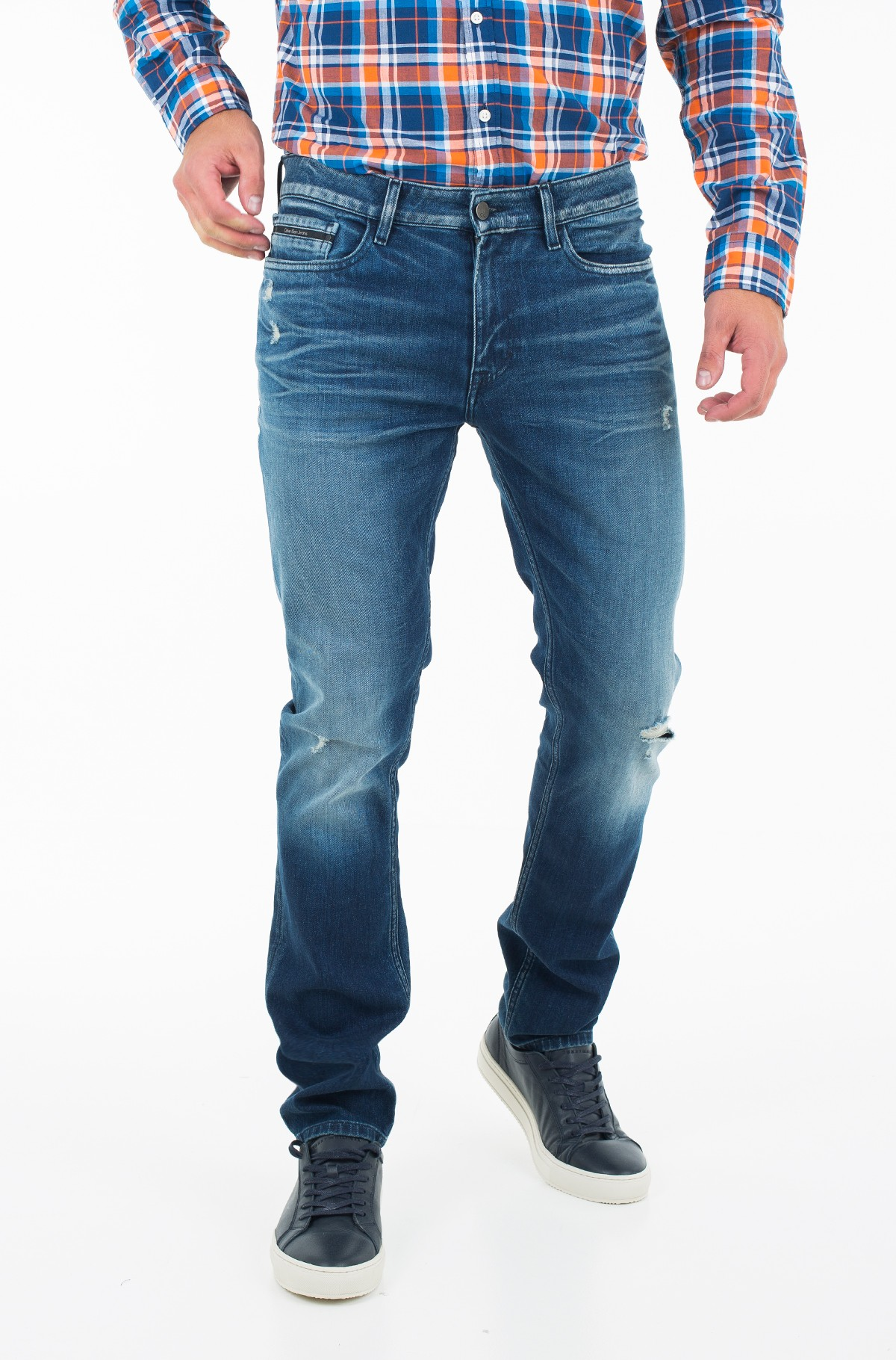 Jeans Slim Straight - Milano Blue Destructed-full-1
