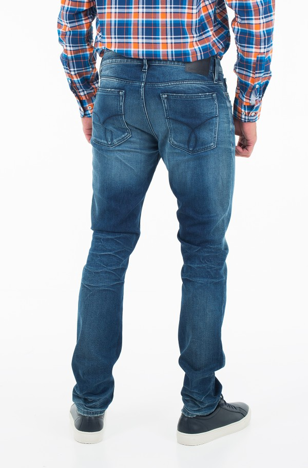 Slim Straight - Milano Blue Destructed-hover