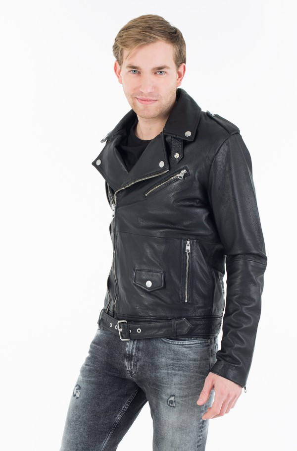 MACEE LEATHER BIKER-hover