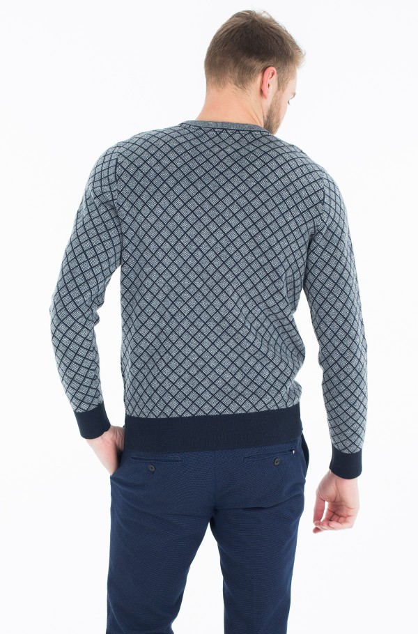 TWO COLOR ARG JACQUARD C-NK CF-hover