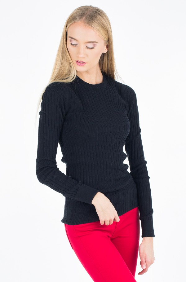 SHAW CN RIB SWEATER LS