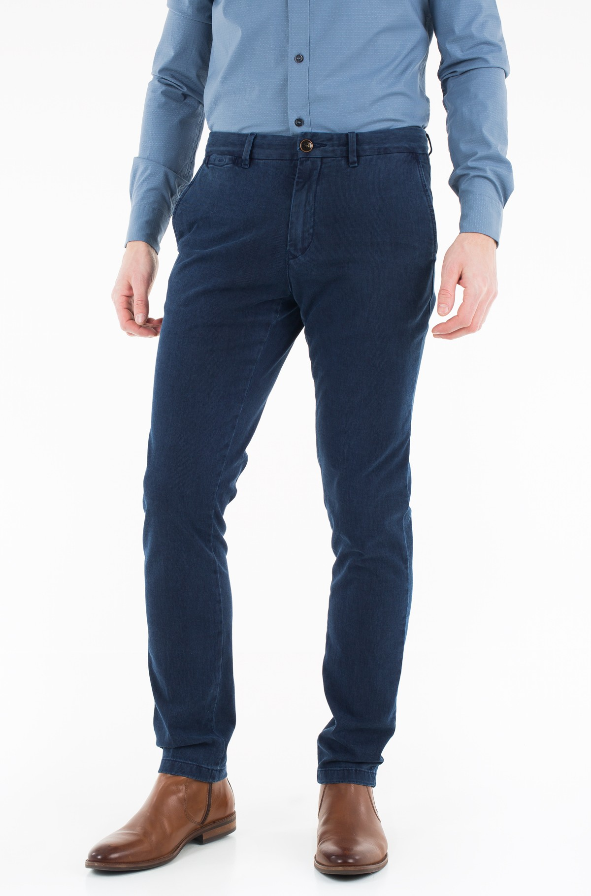 Trousers Denton Chino Stripe Sulphur Dye-full-1