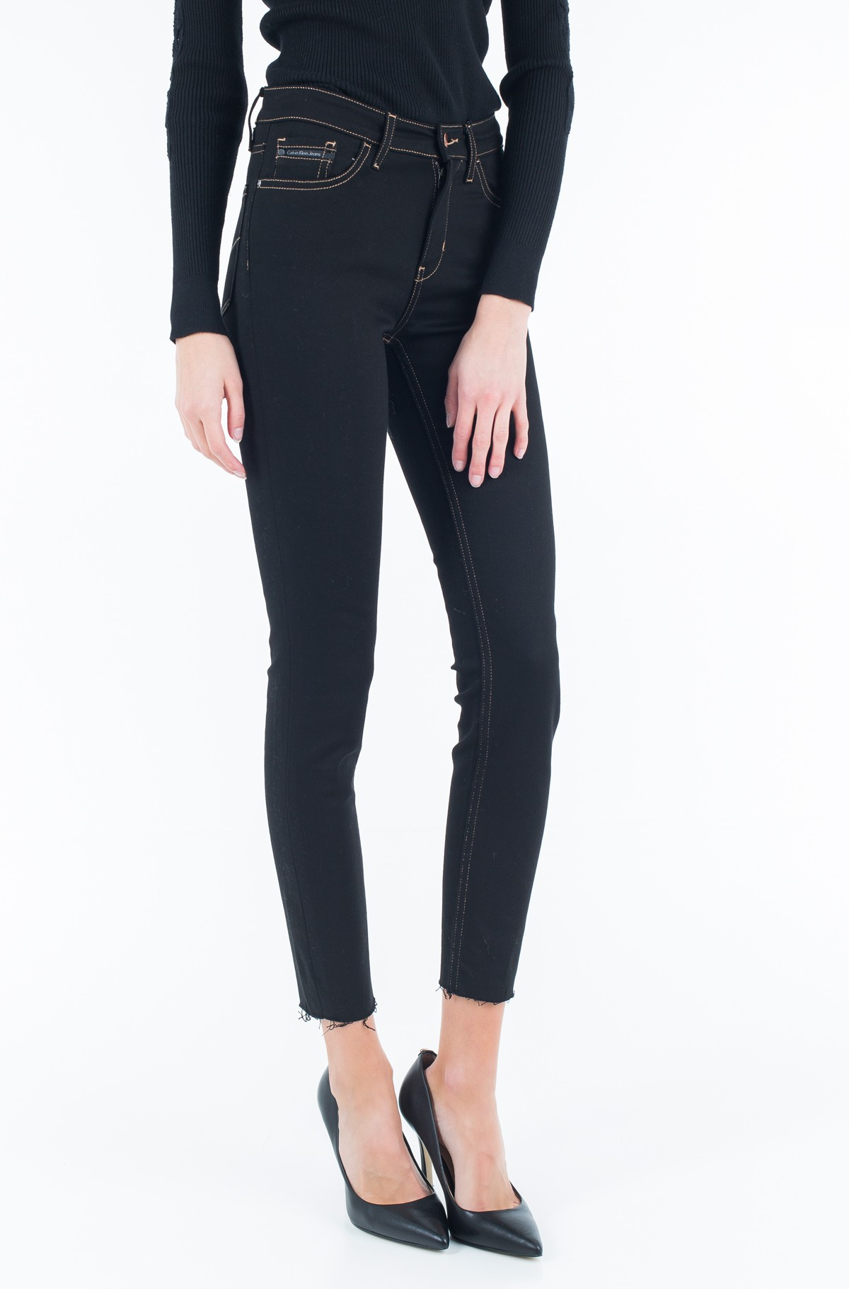 Jeans HR Skinny Ankle - Raw Black-full-1