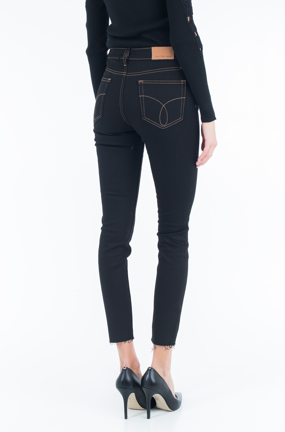 Jeans HR Skinny Ankle - Raw Black-full-2