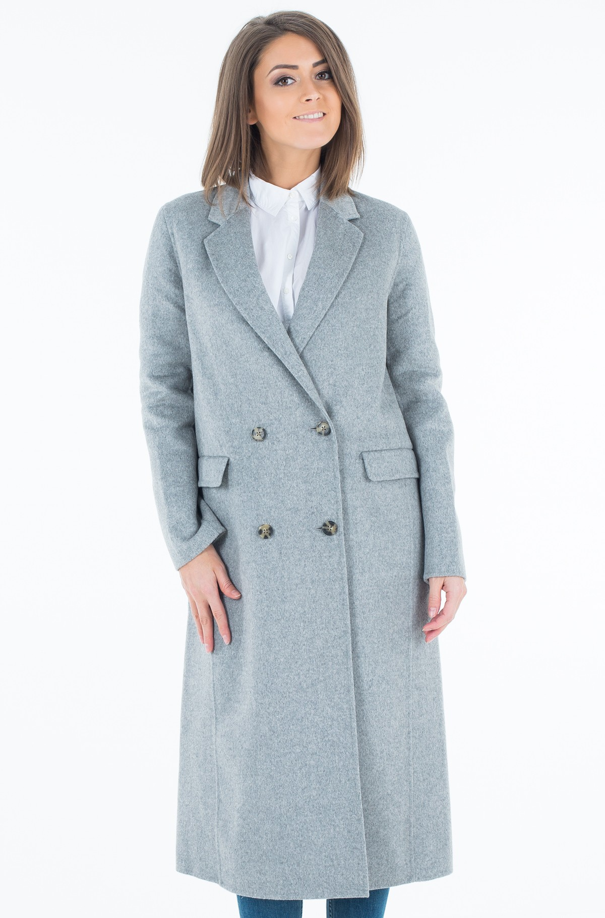 Mantel Ivo Long Df Wool  Coat-full-2