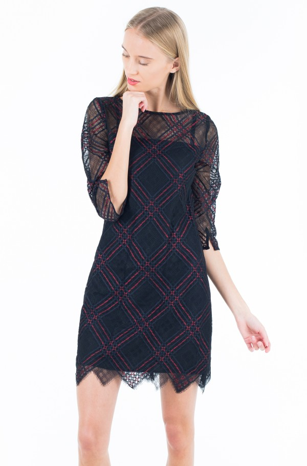 NARA LACE DRESS 3/4 SLV