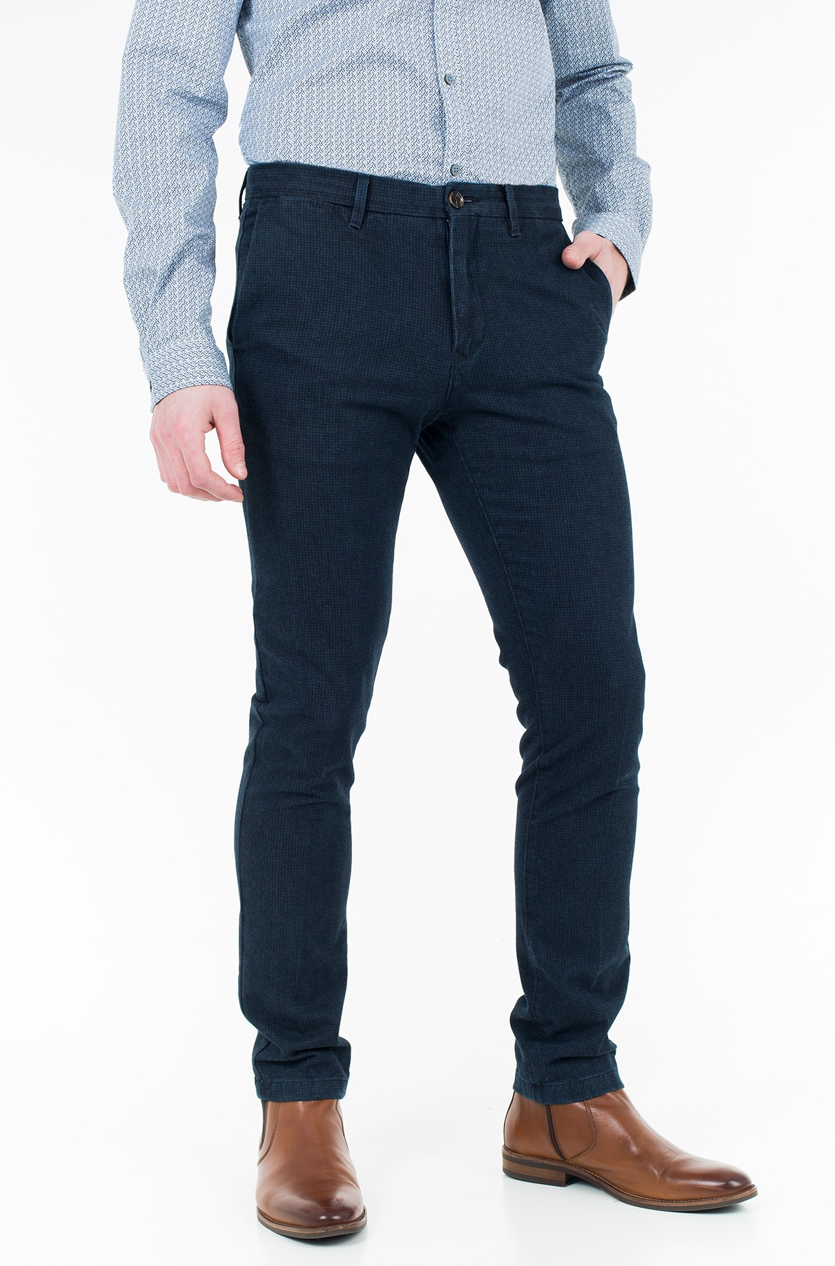 Trousers BLEECKER CHINO INDIGO DOGSTOOTH-full-1