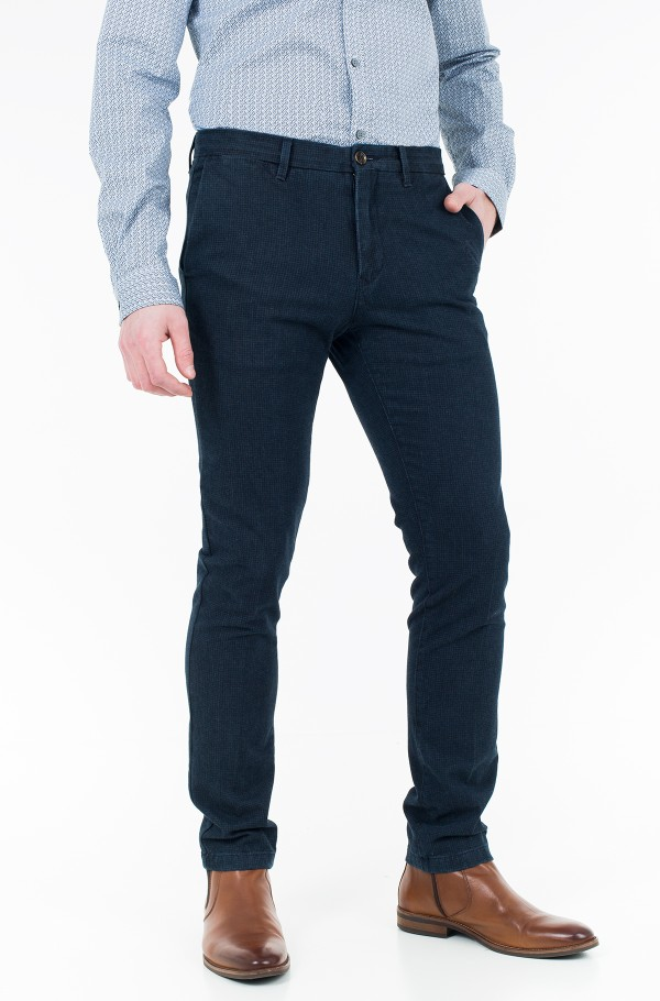 BLEECKER CHINO INDIGO DOGSTOOTH