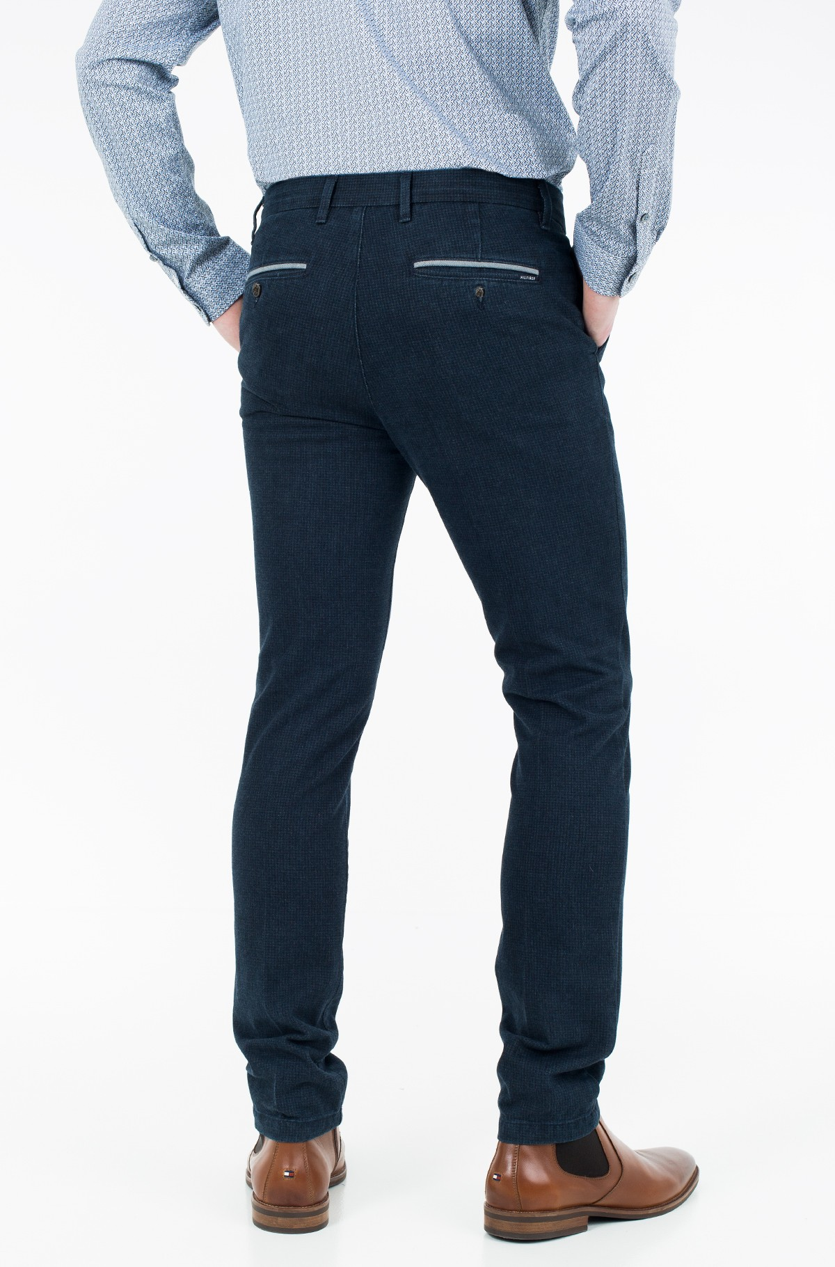 Trousers BLEECKER CHINO INDIGO DOGSTOOTH-full-2