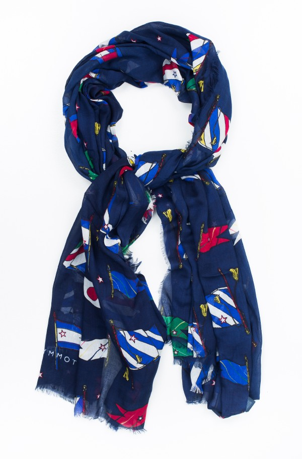 FLAGS ALLOVER SCARF