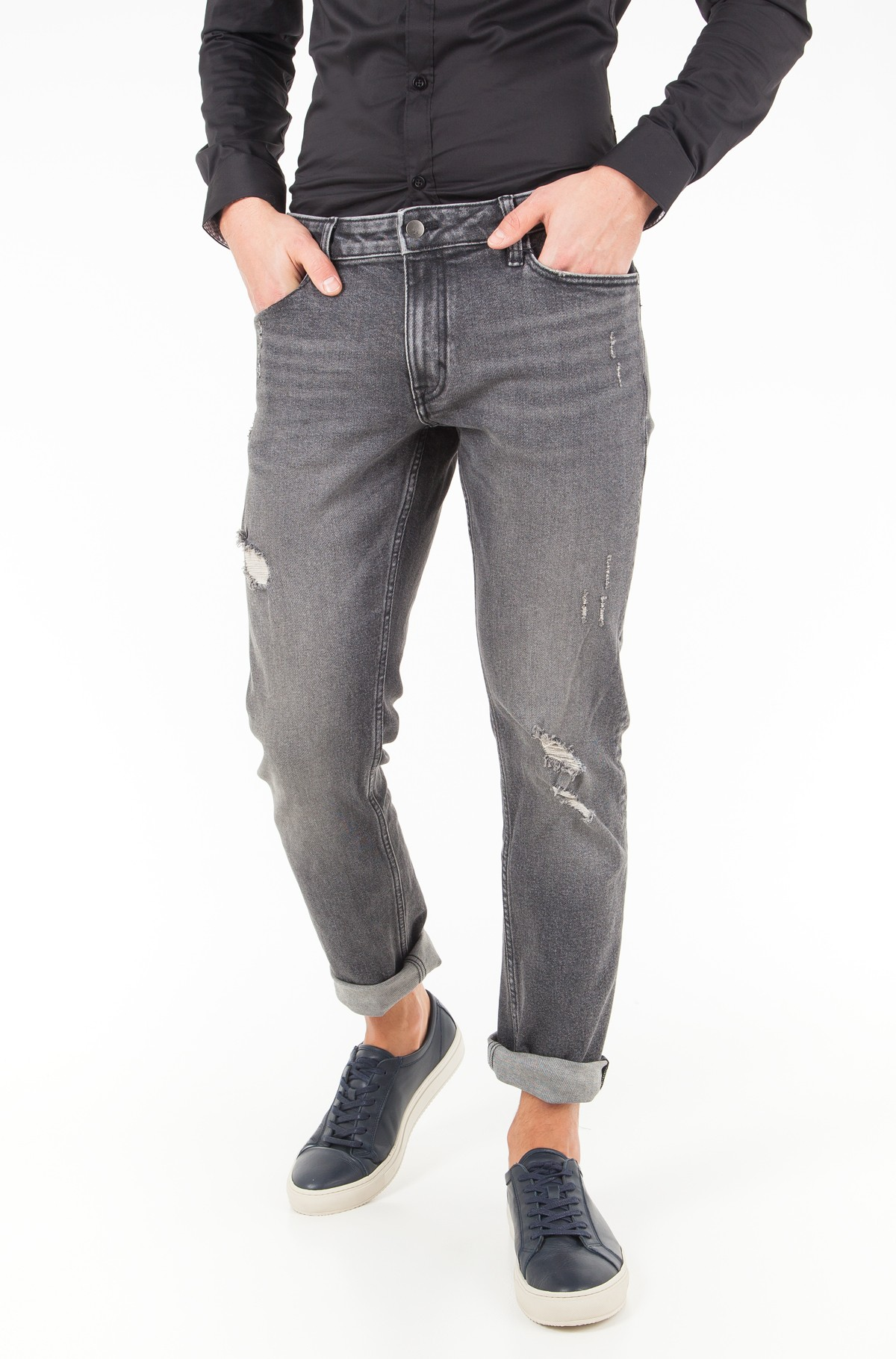 Jeans Slim Straight - Cavern Destructed-full-1