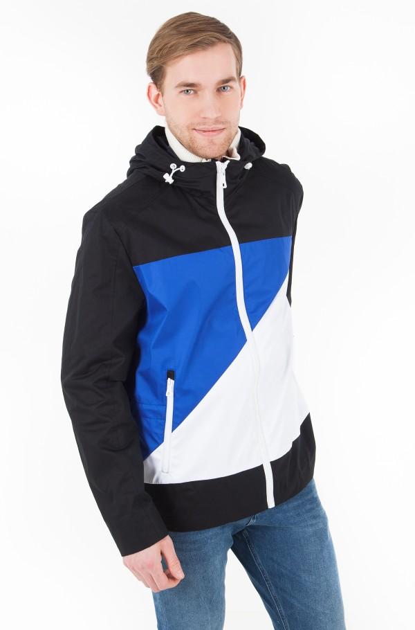 HOODED JKT WITH FLAG ON FRONT